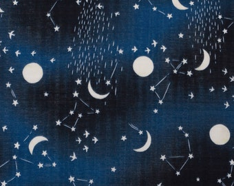 Kokka Japanese double gauze constellation fabric - Trefle - 1/2 YD