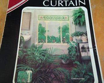 NOS/NIB Saturday Knight Conservatory Plastic Shower Curtain