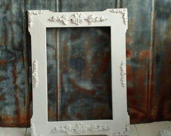Ornately Embellished Vintage Wood Frame w/Old World Paint Finish