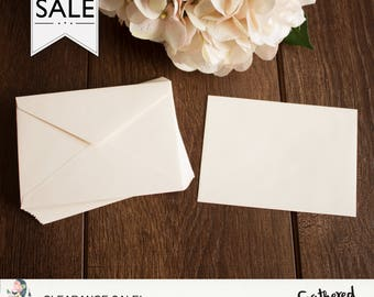CLEARANCE - RSVP 4BAR Envelopes { Cream }