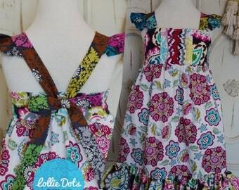 Bohemian Eclectic Tie Dress