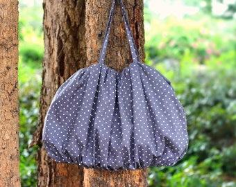 Handbag / Shoulder bag / Fashion bag / Polka dot hobo bag