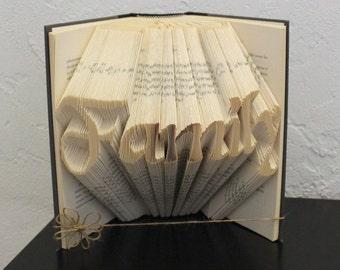 Family - Folded Book Art