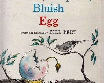 Bill Peet book, The Pinkish Purplish Bluish Egg, kids bird book, childrens bird book, griffin, gryphon, Bill Peet, mythical creature book