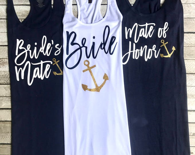 Bachelorette Party, Swimsuit Coverup, Anchor Coverup, Bachelorette Party Tank Dress, Cruise, Nautical, Tank Dress