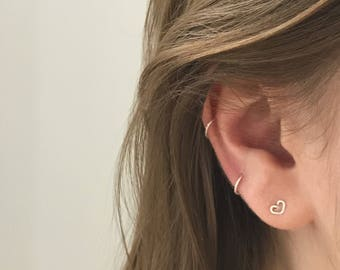 Sterling Silver Fake Nose Ring - Cartilage Ring - Ear Cuff - Faux Piercing - Minimalist and Dainty - Great for Stacking!