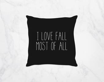 Pillows for Couch, Fall Decor Pillows, Pillows for College Dorm Rooms, Love Fall, Modern Decoration, Word Pillows, Bridal Shower Decorations