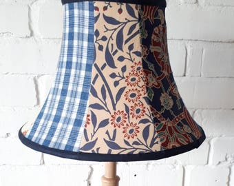 Handmade Patchwork lampshade,  Reclaimed Fabrics,  Suitable for table lamp or Pendant Fitting