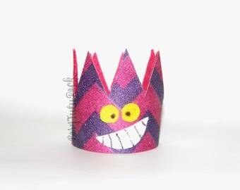 Cheshire Crown // Cheshire Cat Crown // Alice in Wonderland Crown // by Born TuTu Rock
