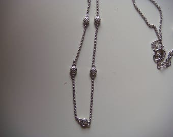Lovely Silver Diammond Necklace