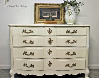 Custom, Hand Painted, French Provincial Dresser, Commissioned French Provincial Dresser