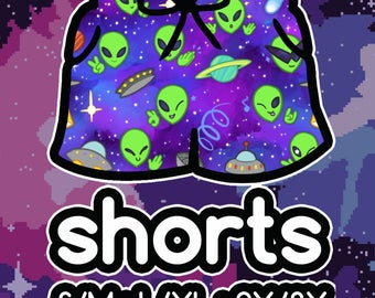 Alien Shorts! Stretchy Basketball Shorts with Drawstring and Pockets