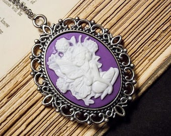 Purple and Silver Fairy Cameo