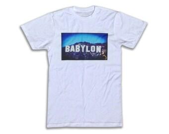 Babylon T Shirt - Graphic Tees For Men, Women & Children - Hollywood Sign, Hollywood Babylon, Los Angeles, LA, West Coast, Cali,