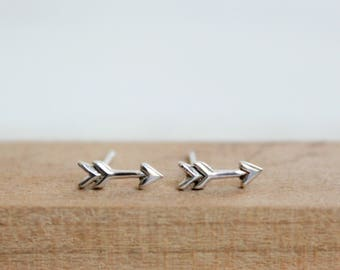 Arrow Stud Earring Sterling Silver Small Post Earrings Minimalist Bohemian Jewelry Cartilage Earrings Tiny Arrow Earrings