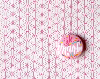 Jo March pin. Button dedicated to Little Women by Louisa May Alcott