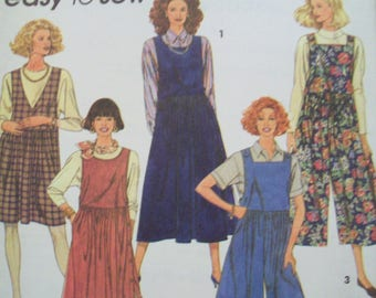 High Waist Jumper Easy to Sew 1990s Simplicity Pattern 7948 Uncut Sizes 10-16