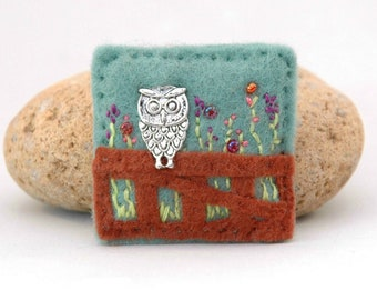 owl brooch, wise owl jewelry, gifts for teachers, owl lover gift, end of term gift idea, favourite teacher, unique British countryside gift