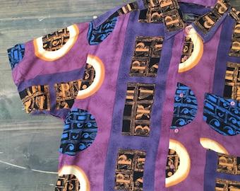 Funky Purple 80s Shirt