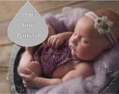 PDF Knit Pattern #0076 The Ceylon Knit Romper Newborn Tutorial Instruction Knit Pattern Intermediate Romper Onesie Newborn Prop Knit Dk Yarn