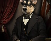 Custom pet portrait, Pet Portrait, Vintage Pet portrait, Gift for Mom, Dog Mom, pet memorial gift, Mother's Day, personalized gift, dog cat