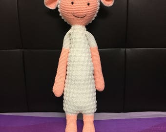 Lupo the Lamb Plush FINISHED ITEMS Handmade Crochet Personalized Toy Collectibles