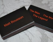 25 Custom Designed Matchbox Birthday Favors - The Man The Myth The Legend