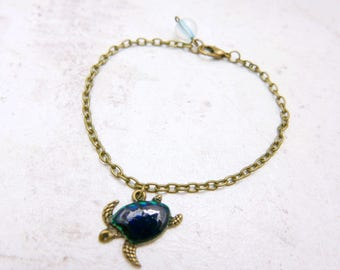 Turtle bracelet, Turtle jewelry, ocean jewelry