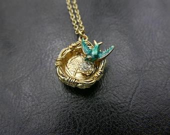 Boho Bird Nest Necklace jewelry