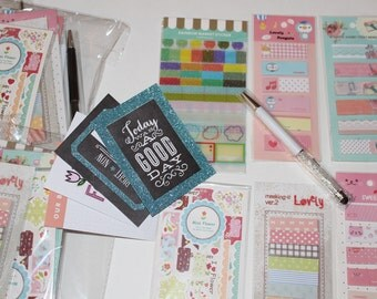 Planner goodies grab bag , Grab bag , planner goodies , washi tape, page flags,pen gems , bujo supplies