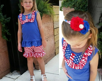30% OFF Summer Sale- Red, White & Ruffles