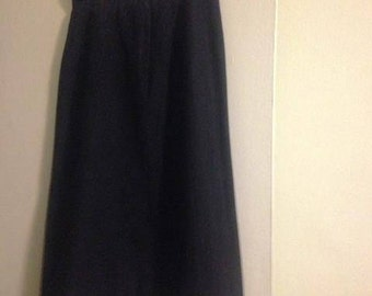 Vintage Ellen Tracy Black Wool Skirt