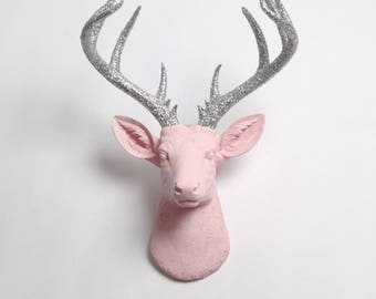 white faux taxidermy jackalope the corduroy in seafoam green. Black Bedroom Furniture Sets. Home Design Ideas