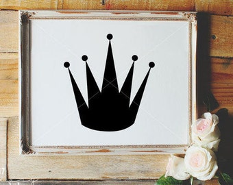Tiara SVG, Crown SVG, Hand Drawn, Silhouette SVG, Tiara Clipart, Crown Cut File, Graphic Overlay