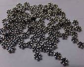100pc Sterling Silver Daisy Spacers 3mm