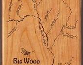 Big Wood River Map Fly Bo...