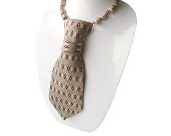 QUINN necktie necklace harlequin tie candee ladies necklace diamonds feminine necklace collar corbata womens necktie statement necklace
