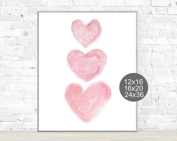 Large Nursery Print in Pink, 12x16, 16x20, or 24x36
