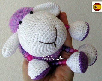 MyLife....Ami Sheep Pom Pom Pattern Spanish