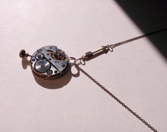 Silver necklace with mechanism. Ref P60