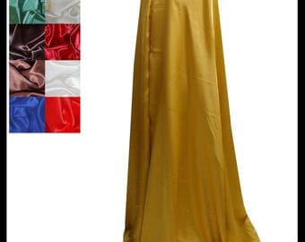 Gold Shimmer Satin Cloak lined with Shimmer Satin. Ideal for LARP LRP Medieval Cosplay Costume. Made especially for you. NEW!