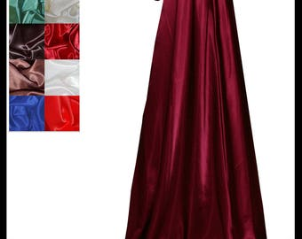 Maroon/ Wine Shimmer Satin Cloak lined with Shimmer Satin. Ideal for LARP LRP Medieval Cosplay Costume. Made especially for you. NEW!