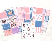 Bookworm Sticker Kit, Vinyl Stickers, Book Lover, Chibi Cat, Erin Condren Sized