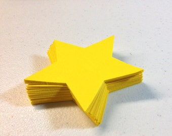 50  Die Cut Stars/Scrapbooking/Party Decorations/Labels/Tags
