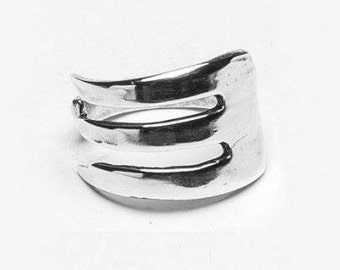 """Spoon and Fork Ring: """"Fork"""" by Silver Spoon Jewelry"""
