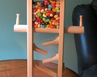 Wooden Candy Dispenser - Jelly Beans- M&M- Nuts (Poplar