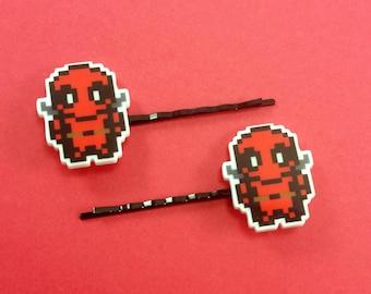 Deadpool Hair Pins - Deadpool Bobby Pins - Deadpool Hair Clips - Deadpool Cosplay -Deadpool Wedding