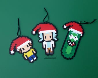 Legend of Zelda Christmas Ornaments Link and Zelda Christmas