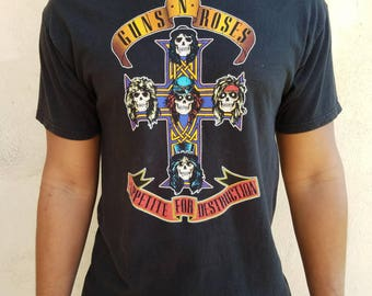 "Vintage Guns N' Roses ""Appetite for Destruction"" Band T-shirt - 80's"