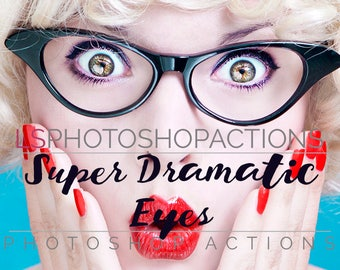 LS Super Dramatic Eyes Photoshop Actions